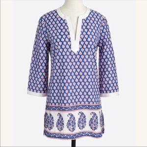 Jcrew poplin printed tunic